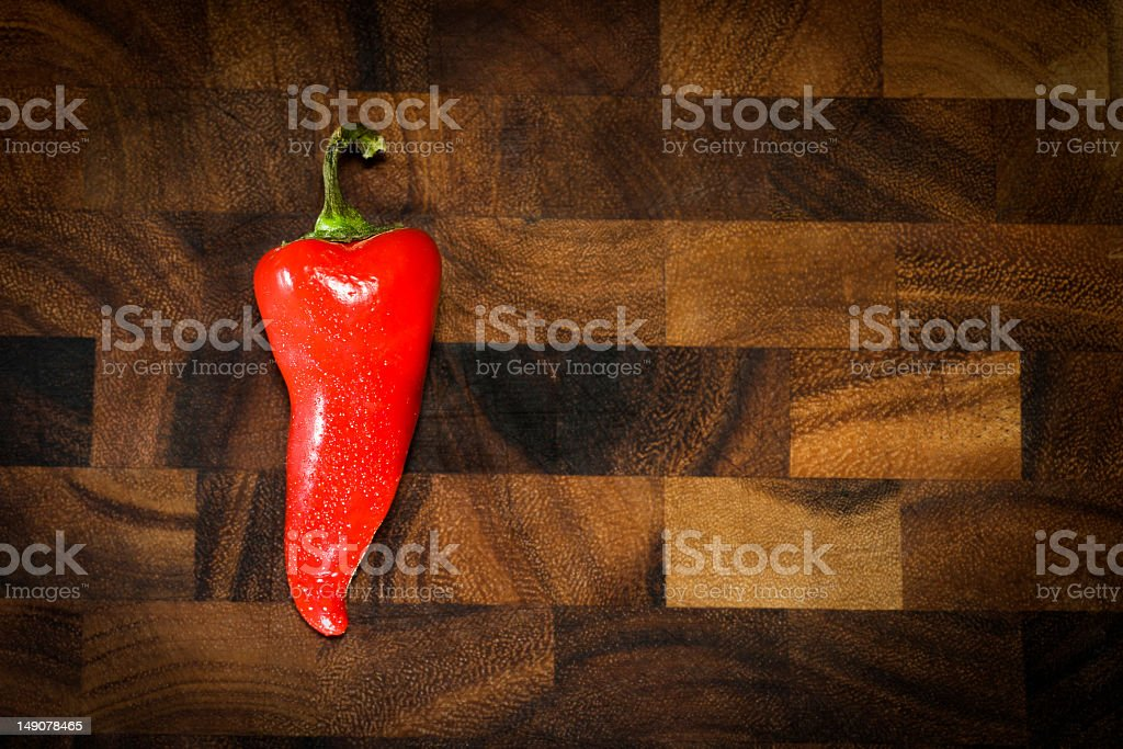 Single Red Pepper royalty-free stock photo