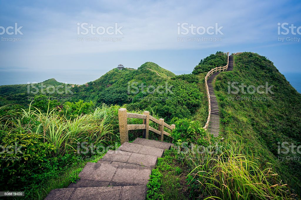 single road over mountain stock photo