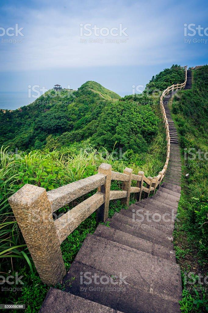 single road over mountain stock photo