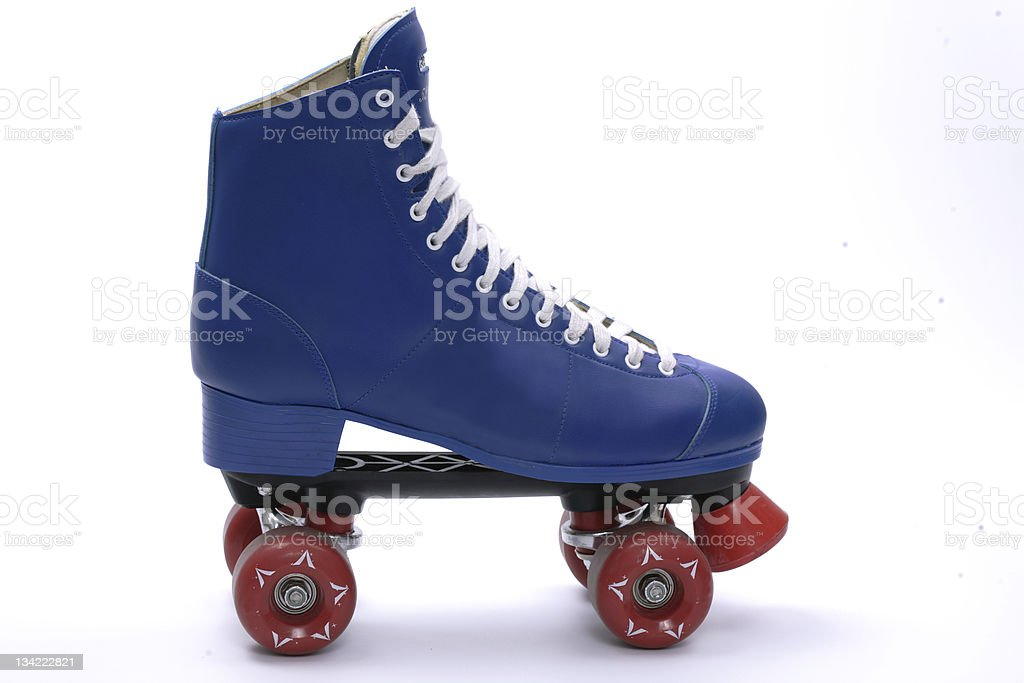 Single roller skate, isolated stock photo