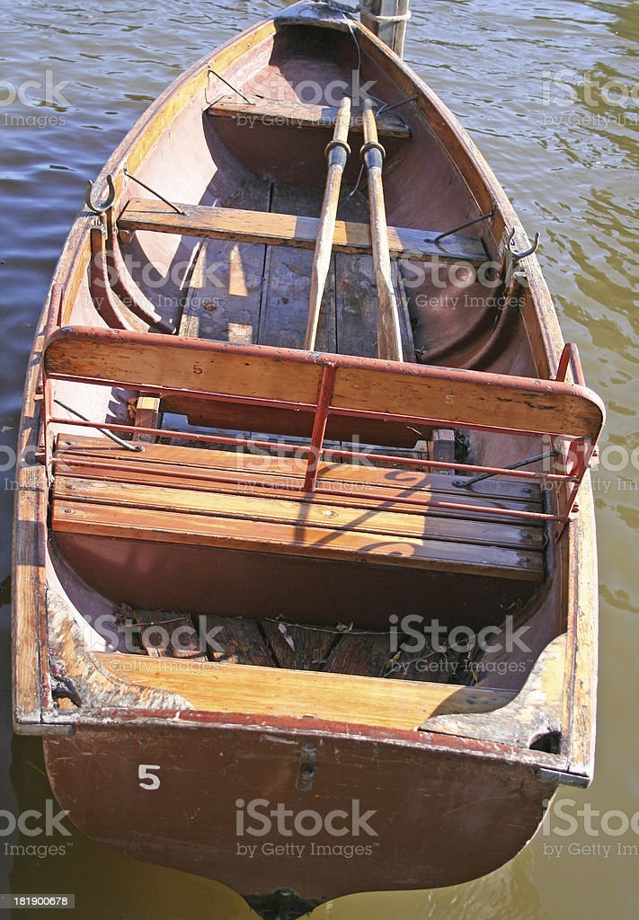single rowing boat on River Avon royalty-free stock photo