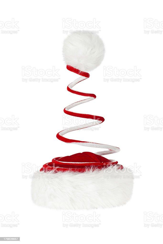 Single Santa Claus red hat royalty-free stock photo