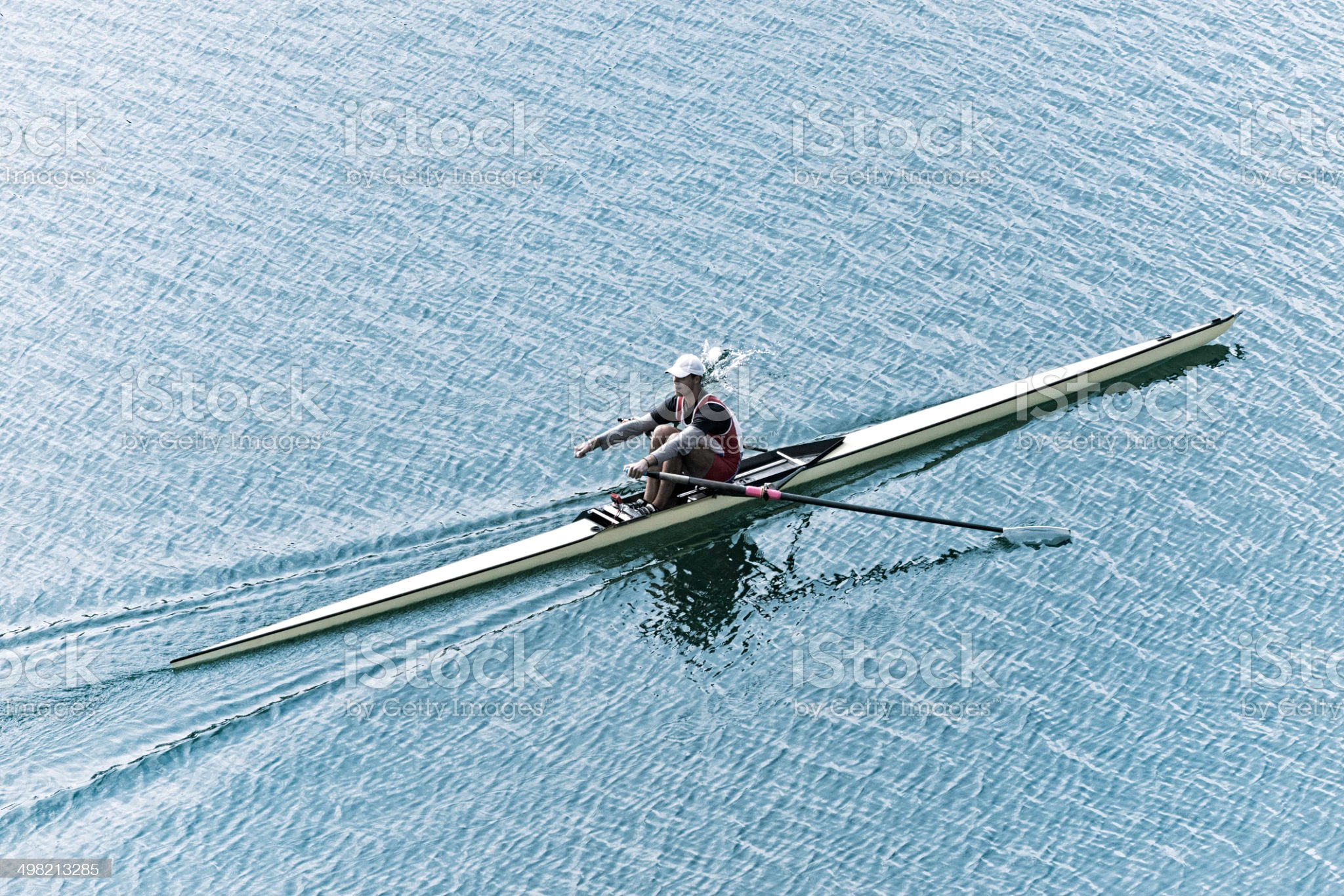 Single scull sport rowing royalty-free stock photo