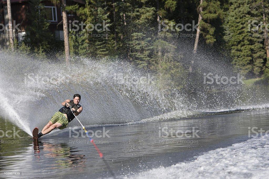 single skier royalty-free stock photo