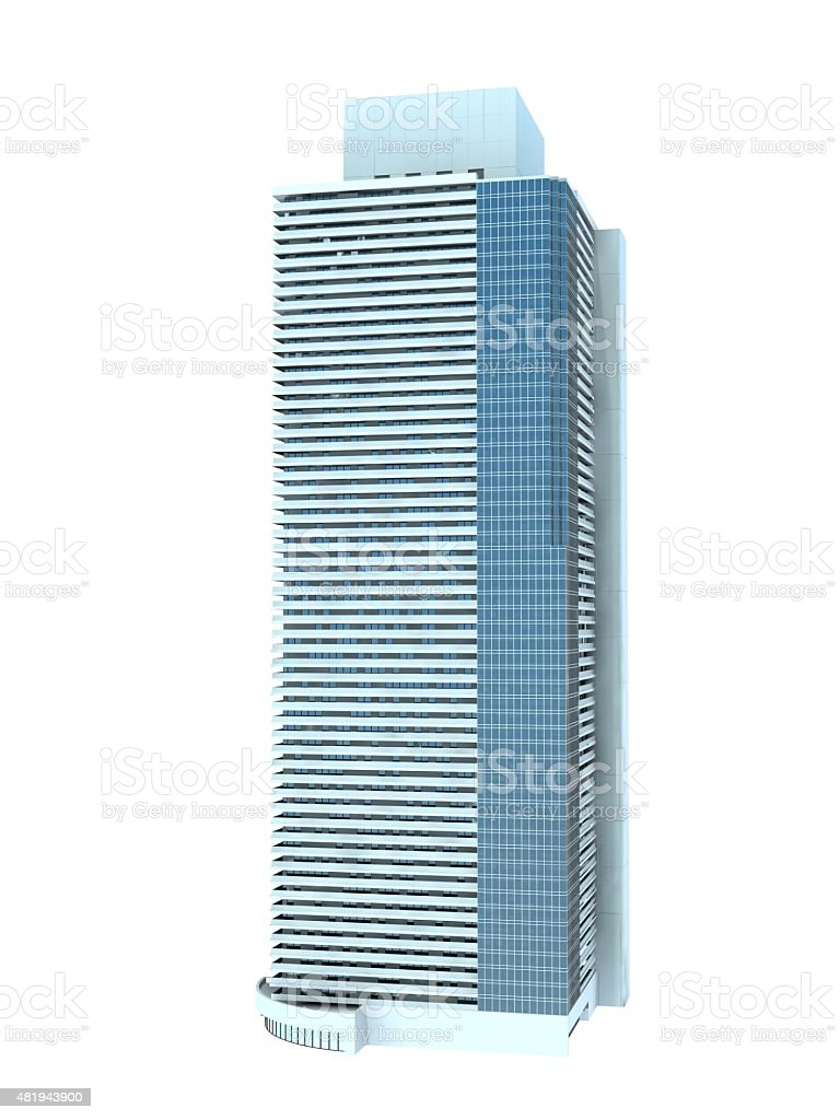 single skyscraper stock photo