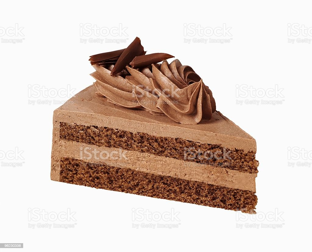 Шоколадное пирожное с кремом Стоковые фото Стоковая фотография