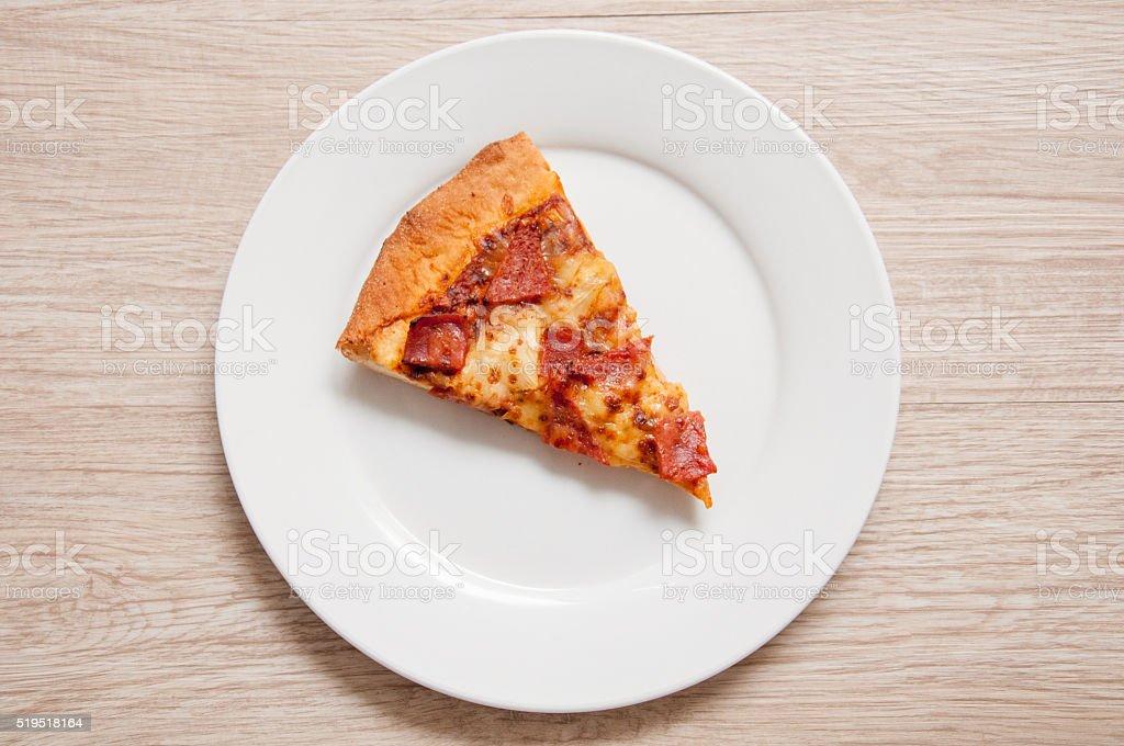 Single Sliced Pizza stock photo