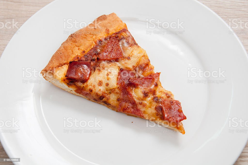 Single Sliced Pizza stock photo