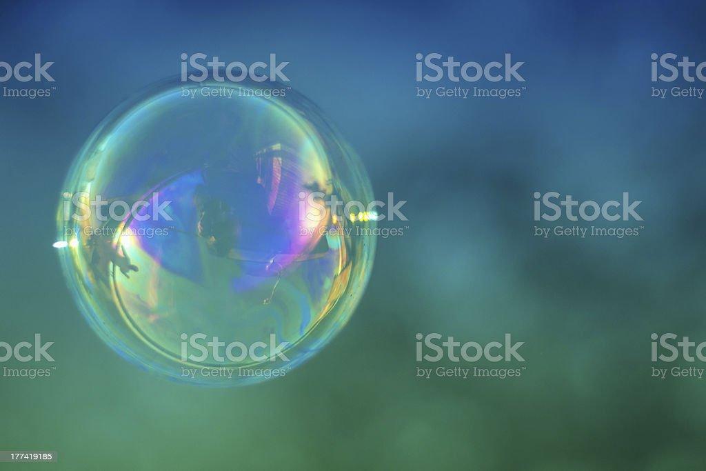 Single soap bubble stock photo