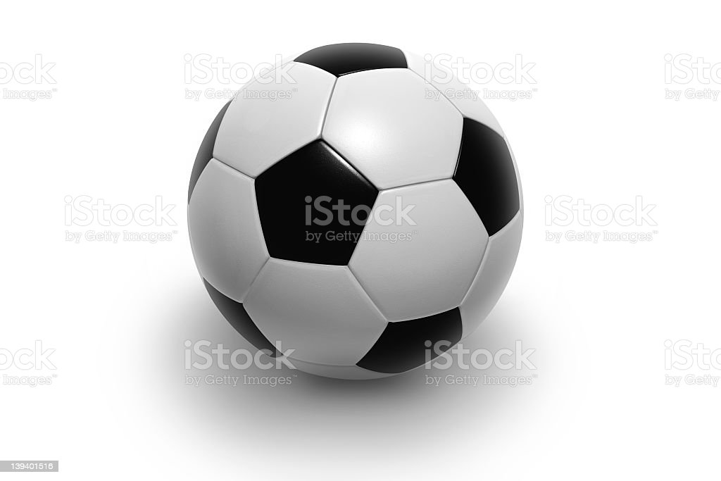 A single soccer ball on a blank screen royalty-free stock photo