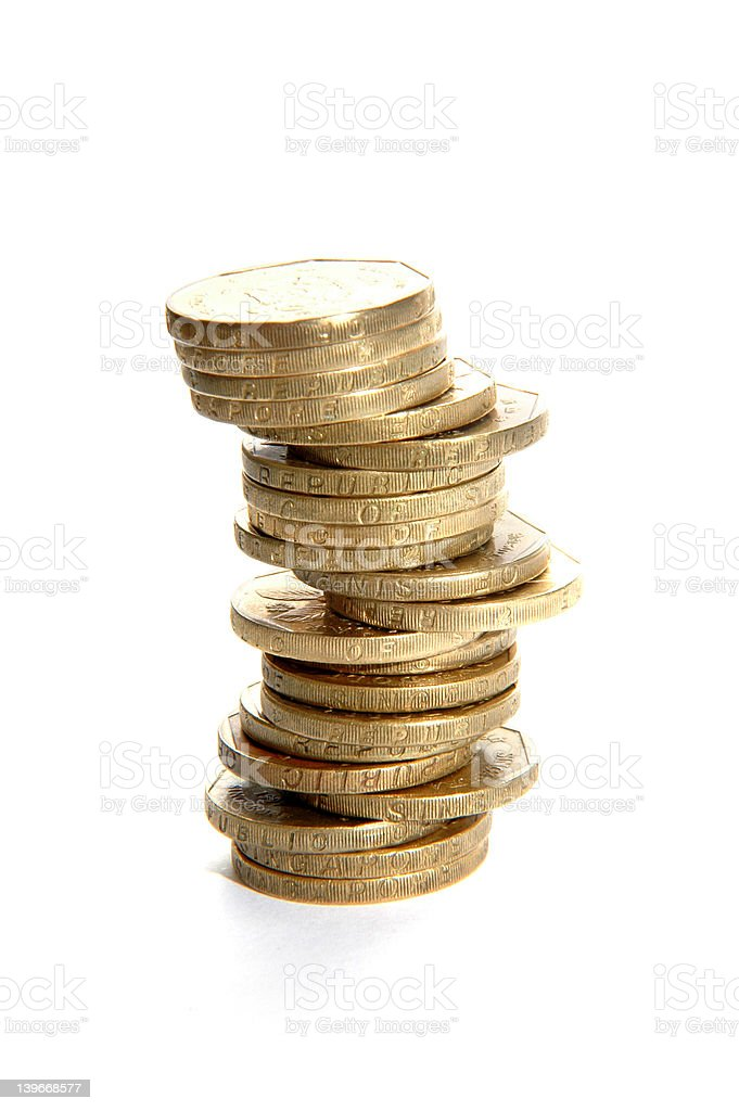 Single stack of coins royalty-free stock photo