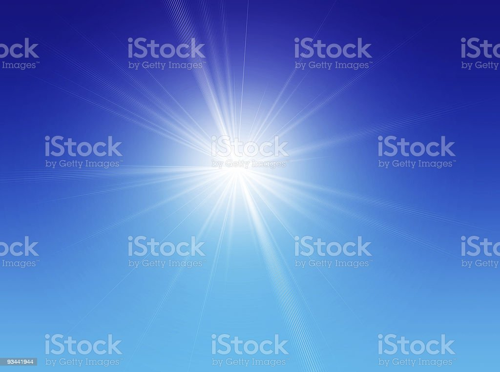 Single star shining in blue sky royalty-free stock photo