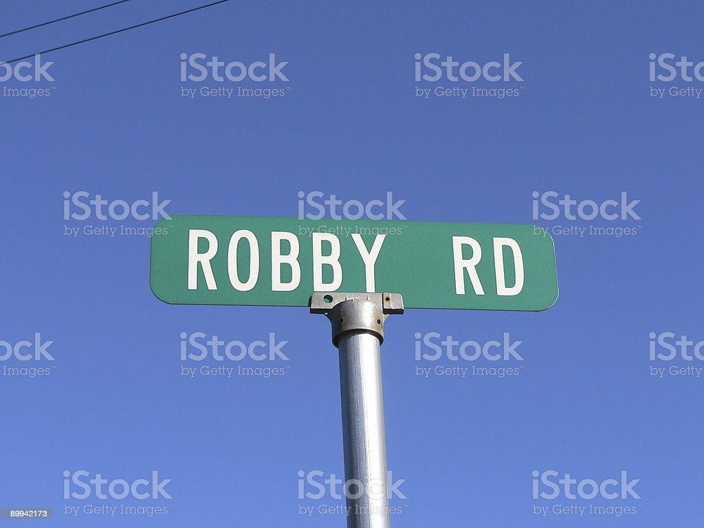 Single Street Sign stock photo