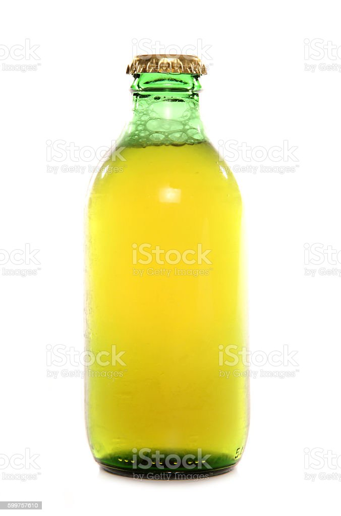 single stubby bottle of larger stock photo