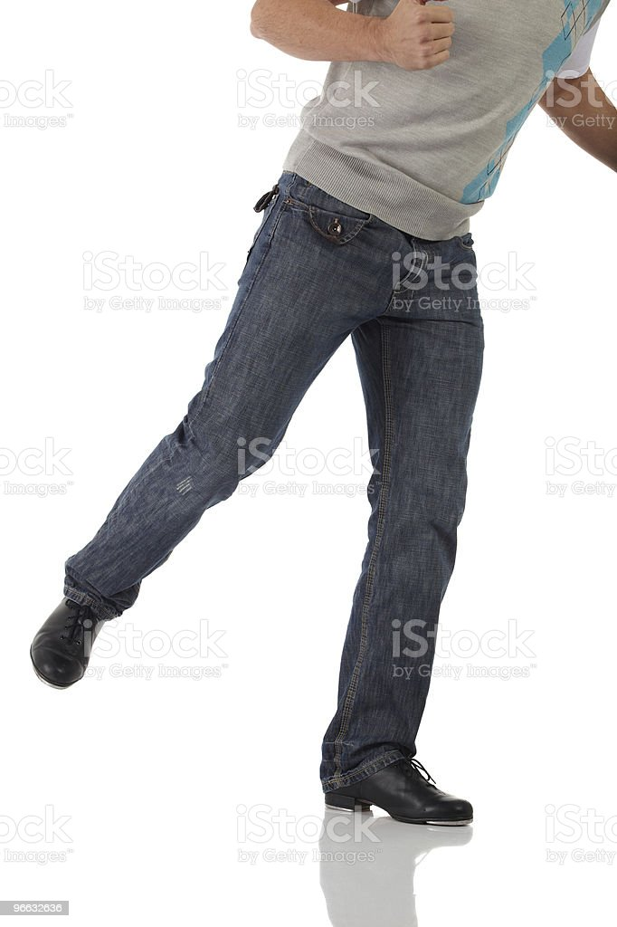Single tap dancer royalty-free stock photo