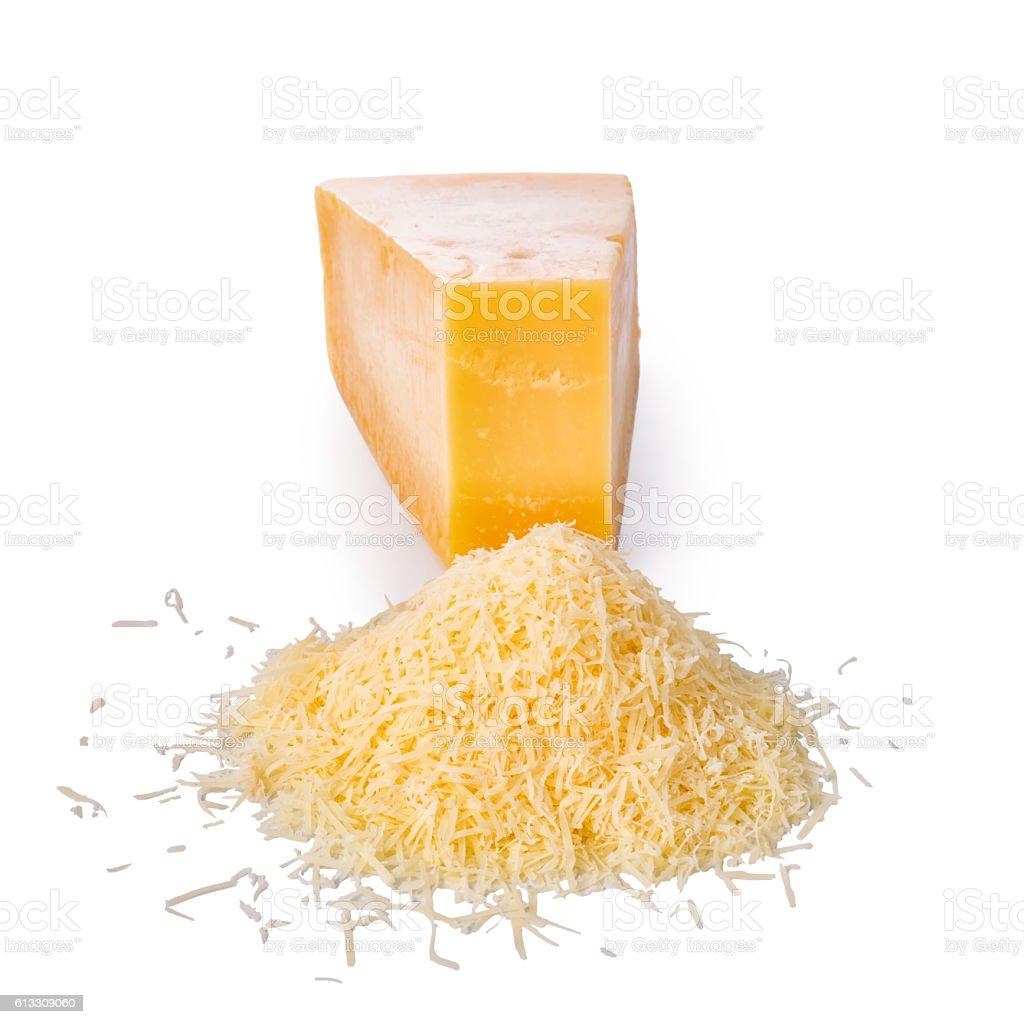 single tasty fresh yellow big segment piece of hard parm stock photo