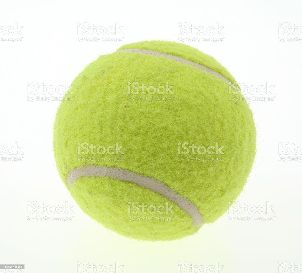 single tennis ball on white royalty-free stock photo