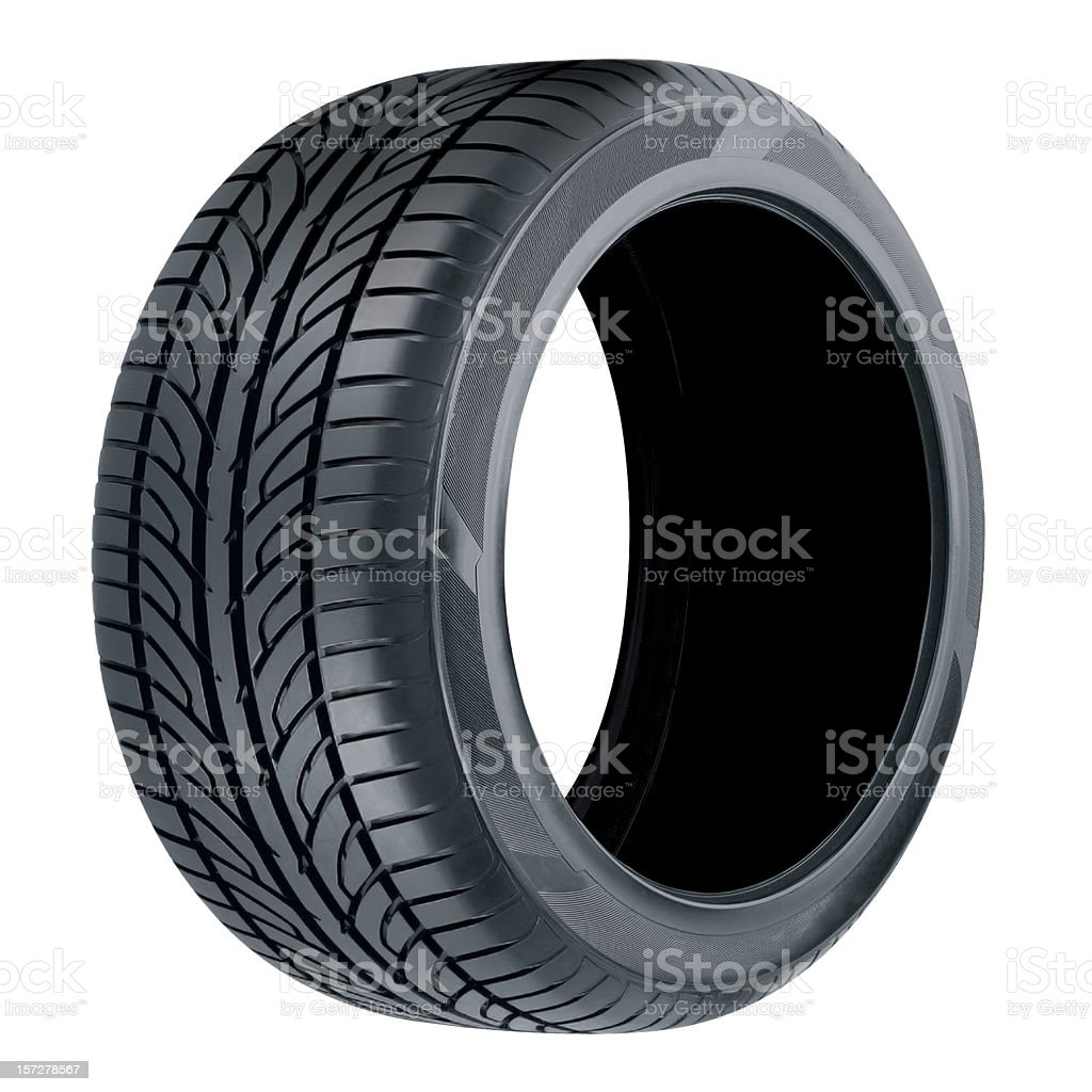 Single tire isolated on white background royalty-free stock photo