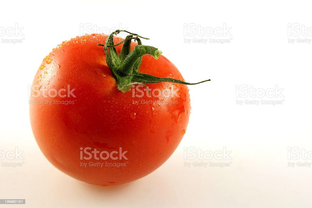 Single Tomato stock photo