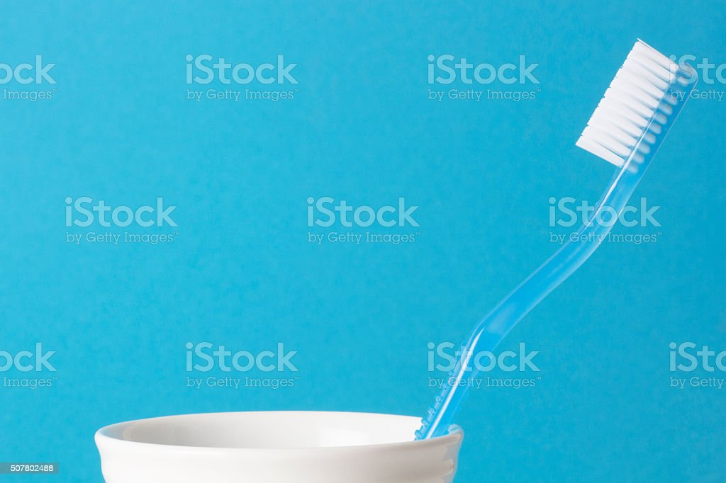 Single Toothbrushes stock photo