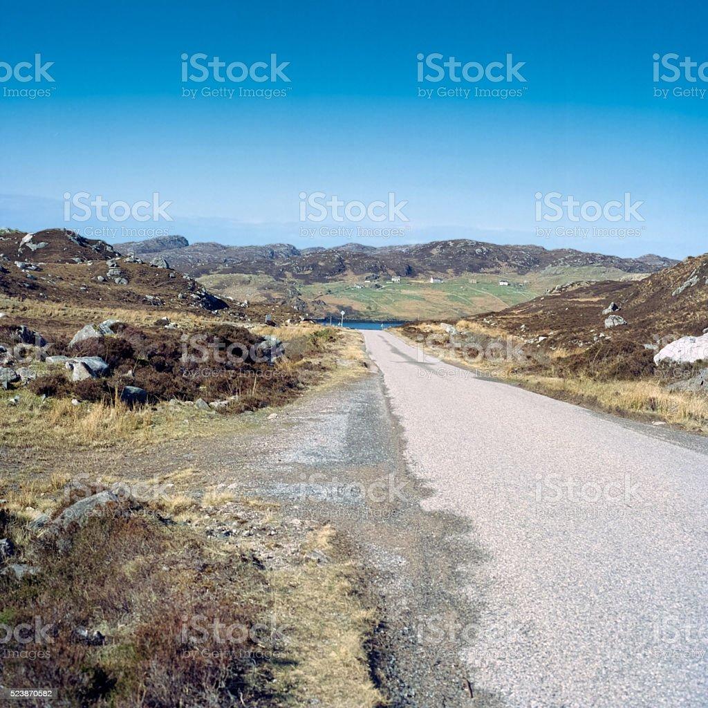 Single track road royalty-free stock photo