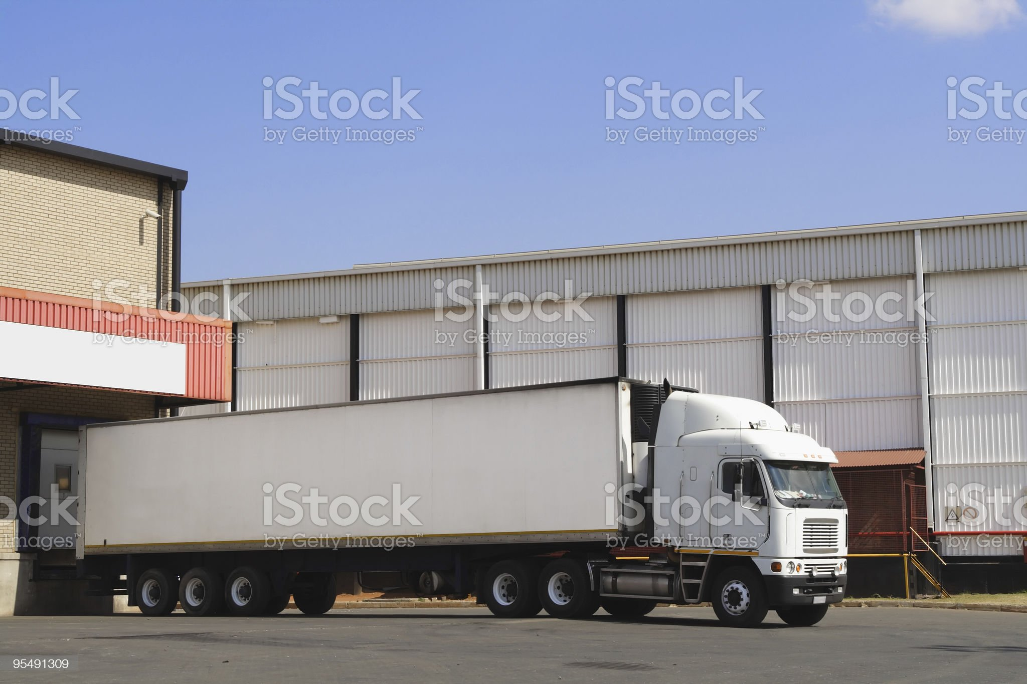 Single truck at loading , Right hand side . royalty-free stock photo