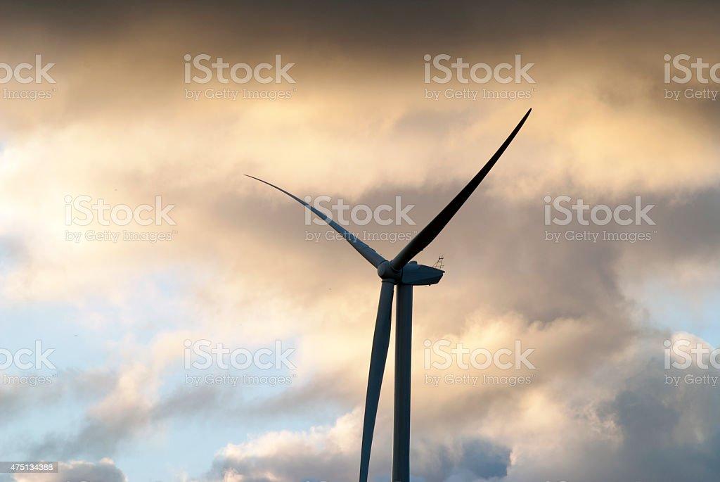 single turbine blades stock photo