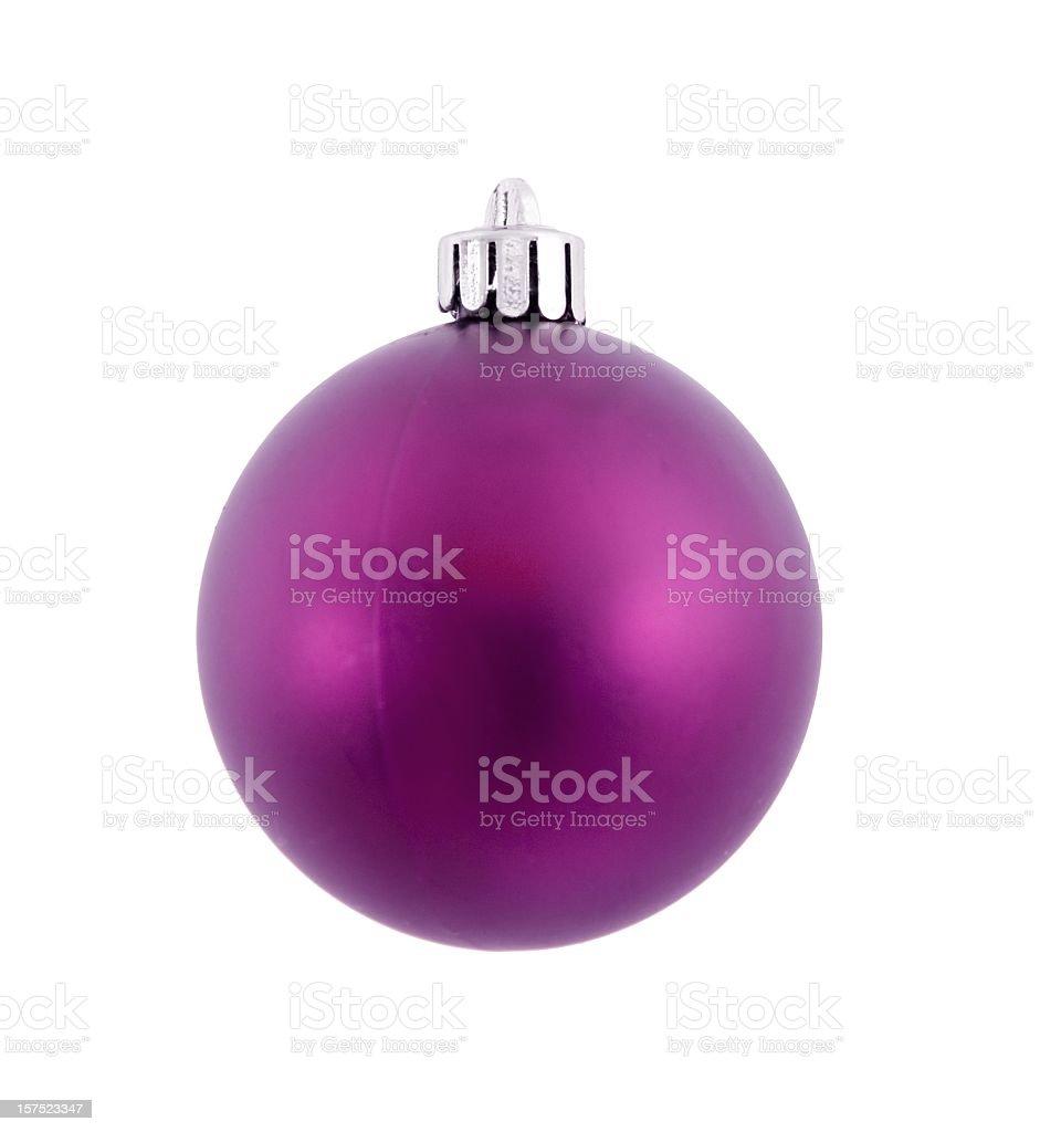 single violett chrismas ball isolated royalty-free stock photo