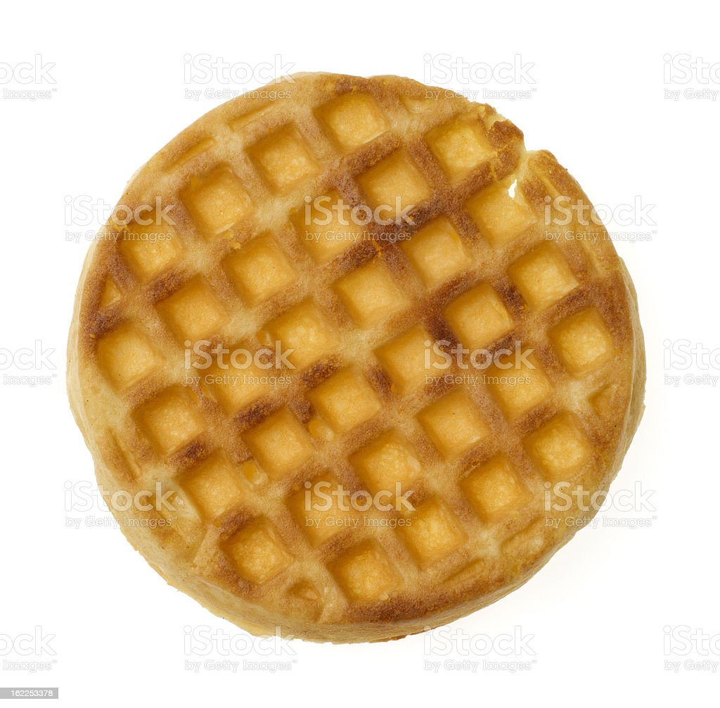 Single Waffle stock photo
