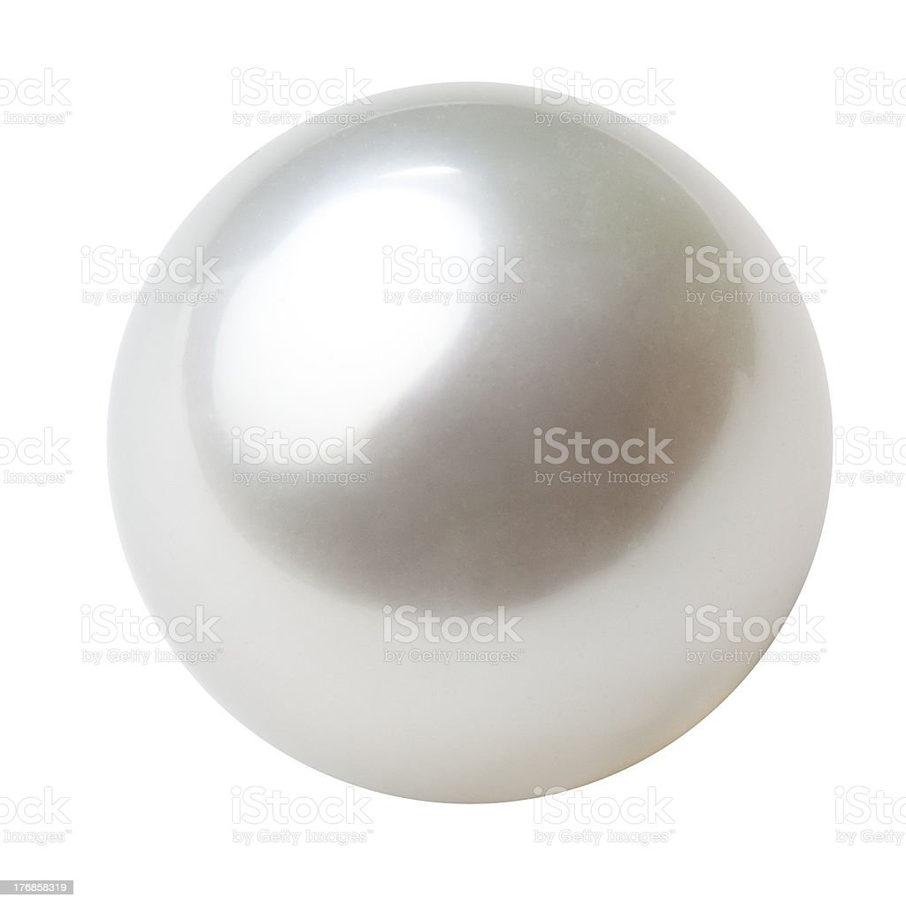 single white pearl stock photo