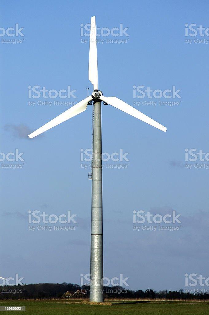 Single windmill royalty-free stock photo