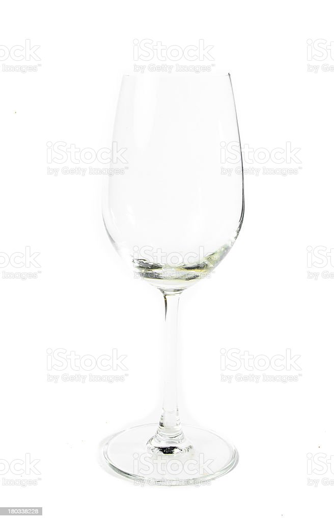 single wine glass royalty-free stock photo
