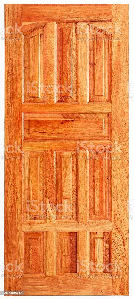 Single Wooden Door stock photo