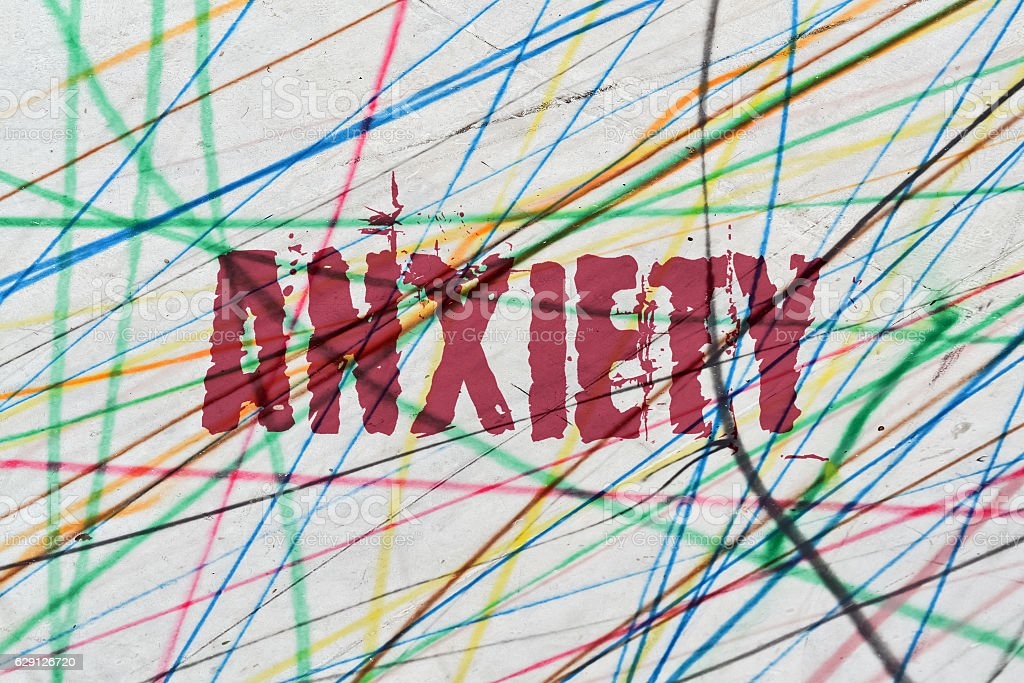 Single word Anxiety stock photo
