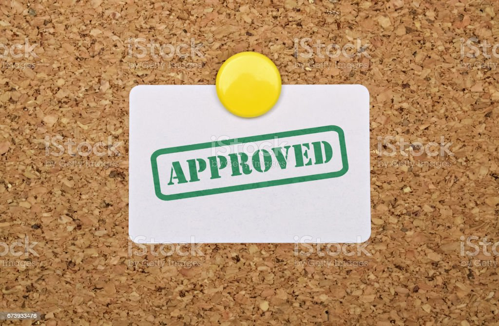 Single word Approved stock photo