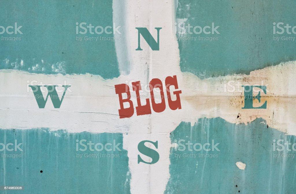 Single word Blog stock photo