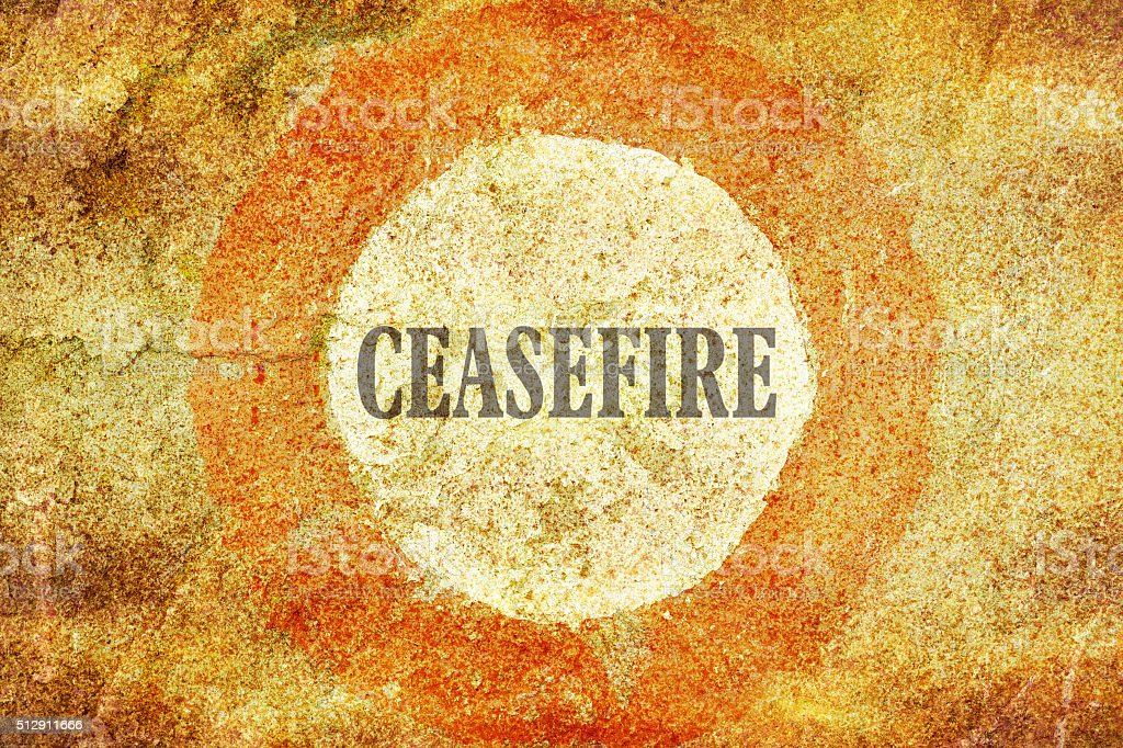 Single word Ceasefire stock photo