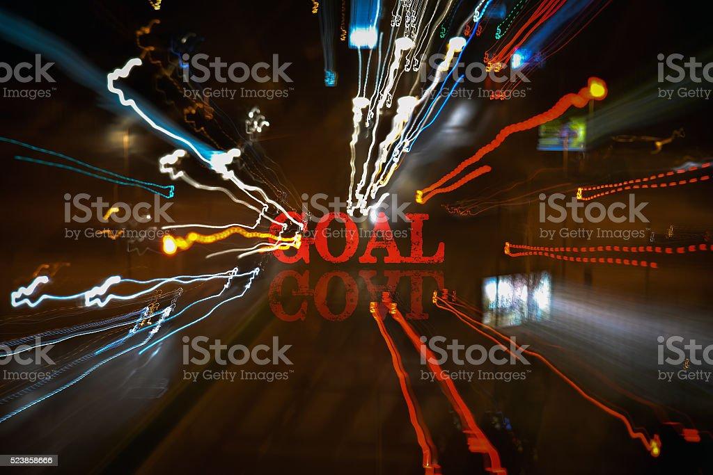 Single word Goal stock photo