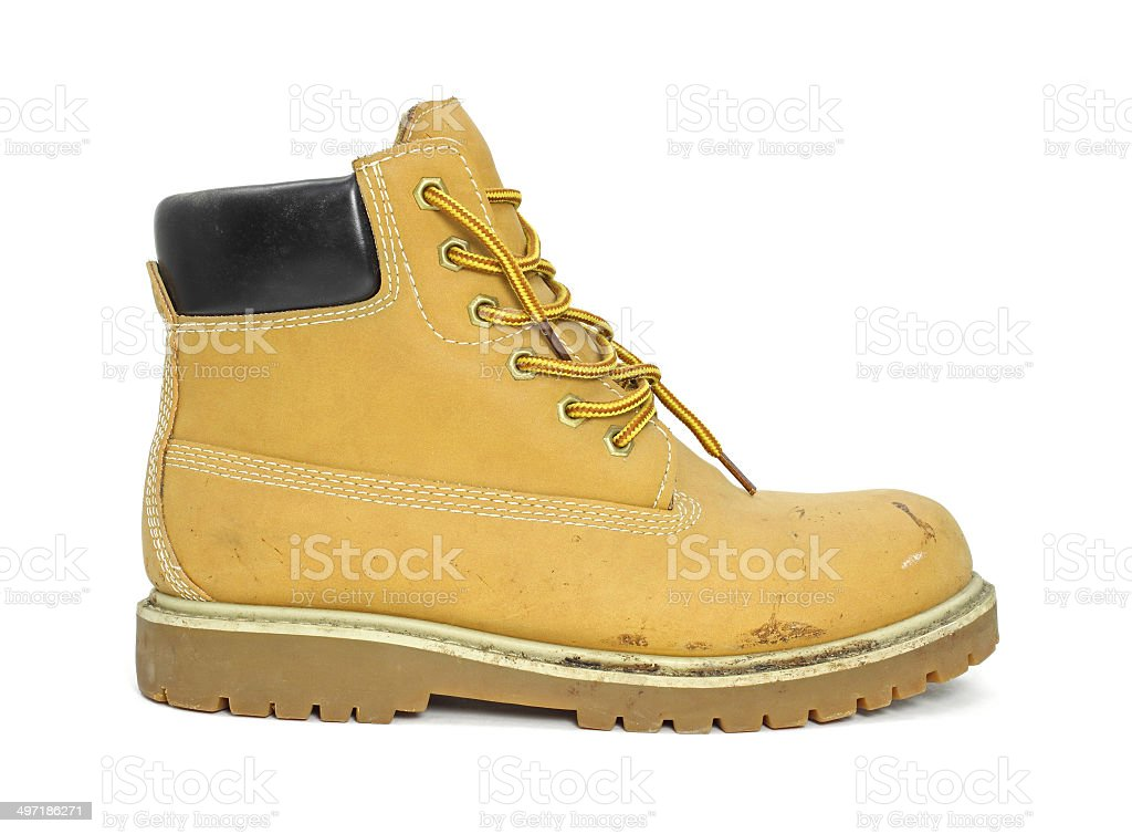 Single work boot stock photo