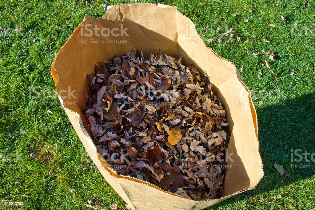 Single yard bag stock photo
