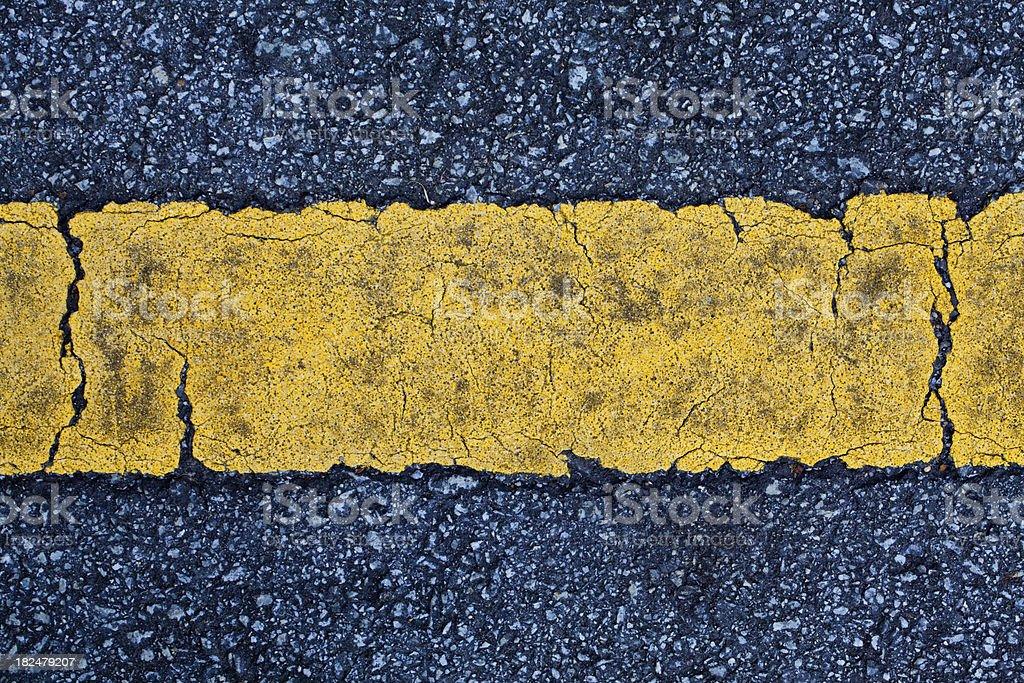 Single Yellow Line royalty-free stock photo