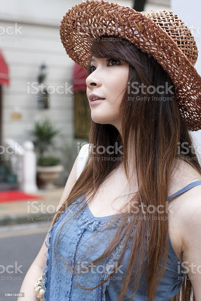 single young woman portrait royalty-free stock photo