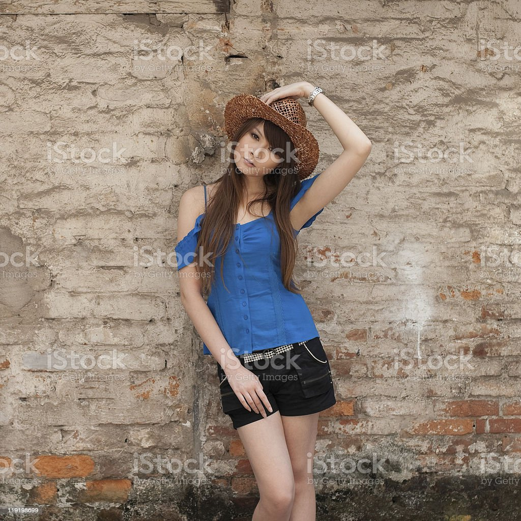 single young woman portrait stock photo