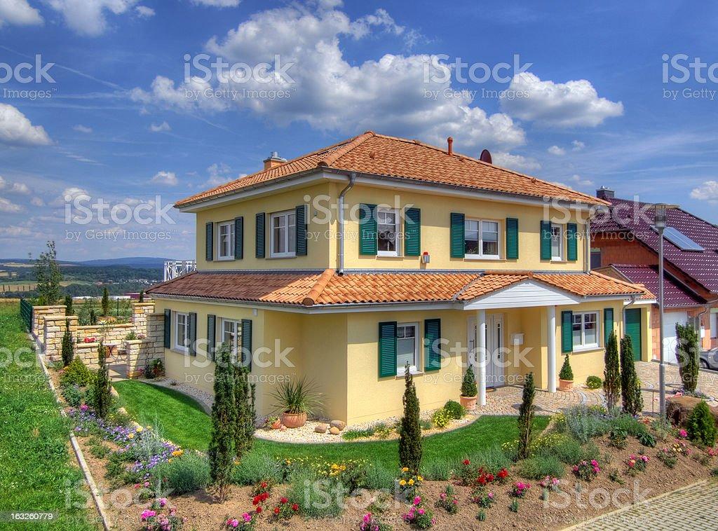 Single-family house royalty-free stock photo