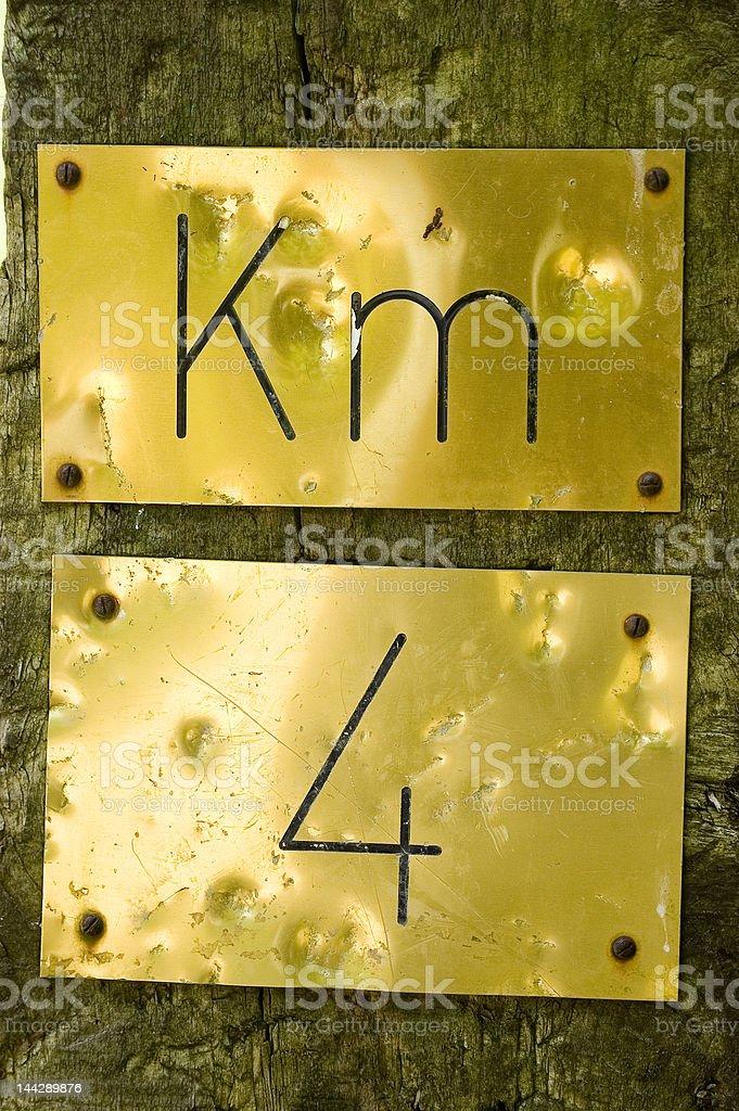 KM 4 sings royalty-free stock photo