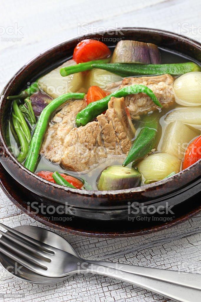 sinigang na baboy ( pork sinigang ), filipino cuisine stock photo