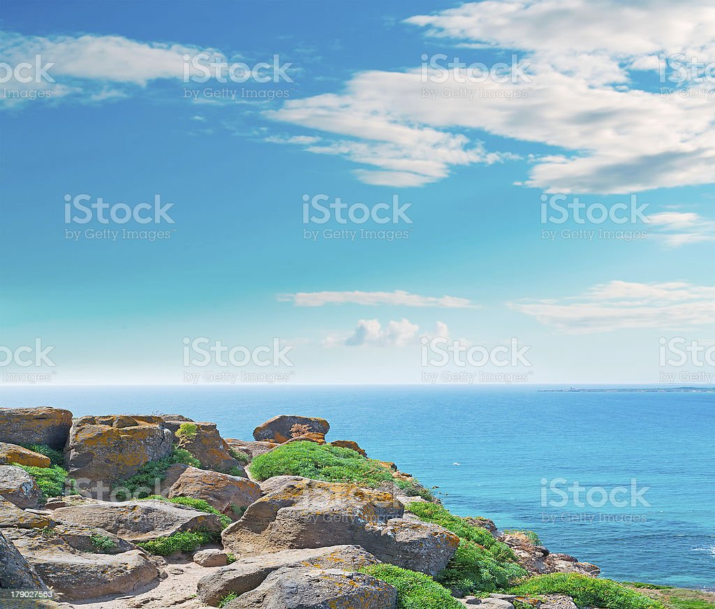 Sinis rocks royalty-free stock photo