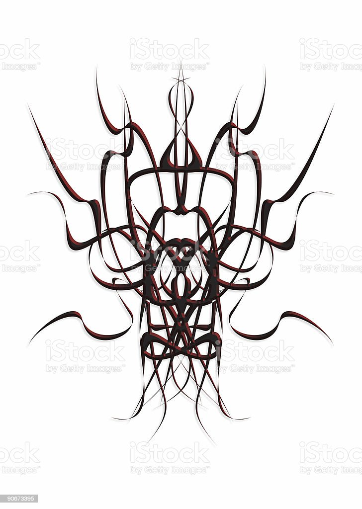 sinister mirrored shapes royalty-free stock photo