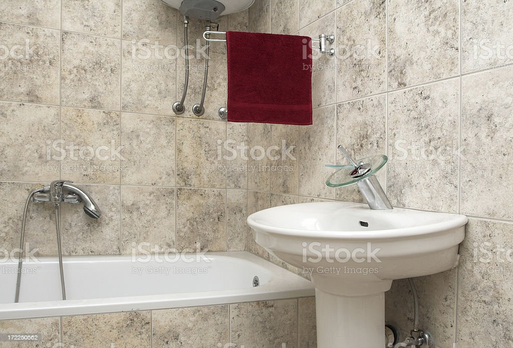 Sink and a bathtub royalty-free stock photo