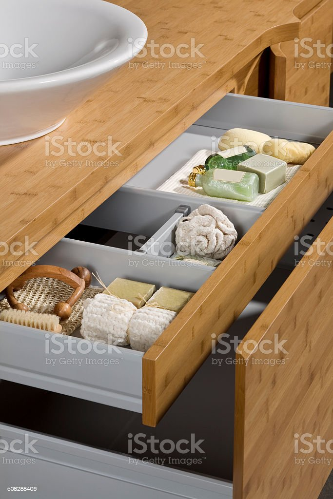 sink and drawer stock photo